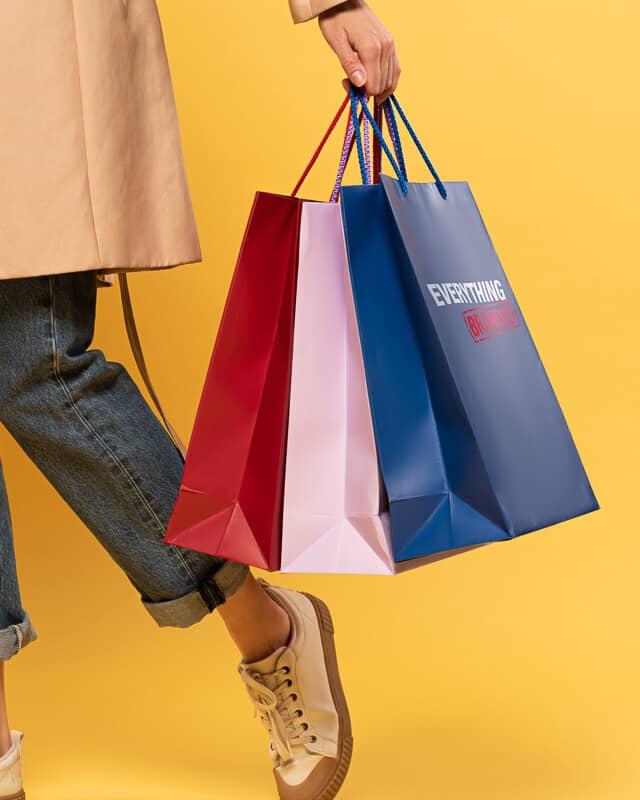 Shopping Bags header